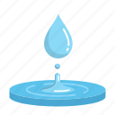 blue, drop, energy, hydropower, renewable, ripple, water icon