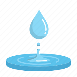 blue, drop, energy, hydropower, renewable, ripple, water icon