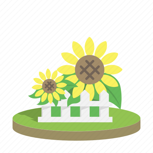 biofuel, energy, power, renewable, sun, sunflower, yellow icon