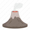 energy, geothermal, power, renewable, saving earth, smoke, volcano icon