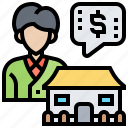 property, housing, broker, marketing, price icon