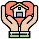 assistance, help, home, housing, program icon