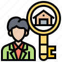 agent, buyer, customer, landlord, owner icon