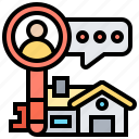 housing, lessee, renter, residential, tenant icon