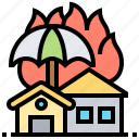 insurance, renters, asset, damaged, protection icon