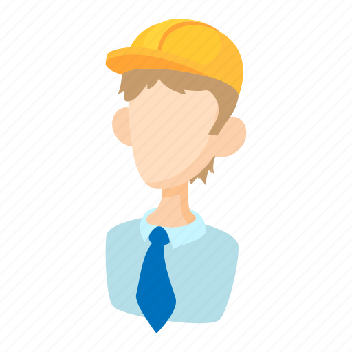 builder, cartoon, man, person, tool, work, worker icon