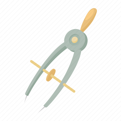 architecture, cartoon, compass, education, geometry, ruler, tool icon