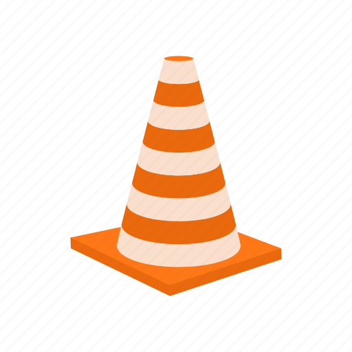 attention, cartoon, cone, construction, danger, safety, stop icon