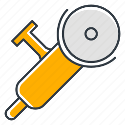 angle, electrical, grinder, tool icon
