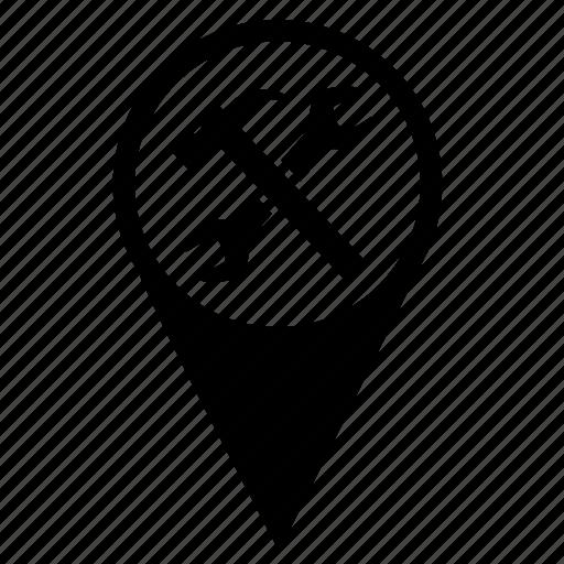 Geo, location, point, repair, service icon - Download on Iconfinder