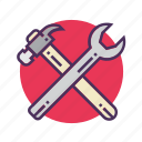 building, construction, equipment, industry, maintenance, repair tool, work icon