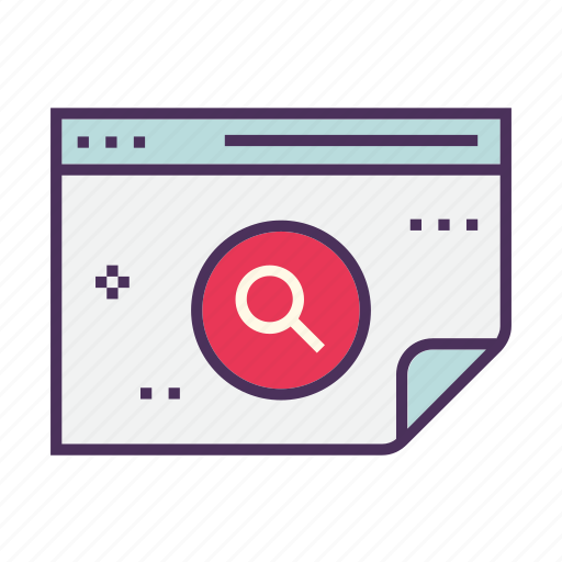 analytics, business, chart icon, magnifying glass, optimization, search, seo icon