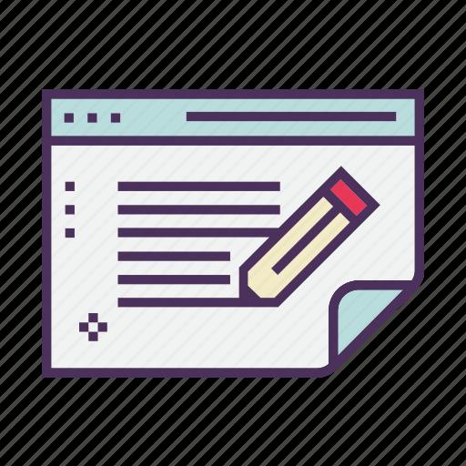 business, copywriting, optimization, pencil, search, seo, text icon
