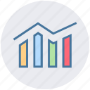 analytics, bars, finance, graph, reports, stabilization icon