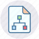 analytics, connection, data, document, file, page, statistics icon