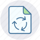 analytics, arrows, document, file, loading, page, statistics icon