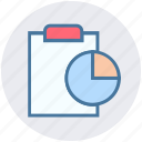 accept, analytics, chart, clipboard, file, report, statistics icon
