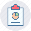 analytics, chart, clipboard, diagram, financial report, growth, statistics icon