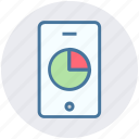 analytics, chart, diagram, financial report, growth, mobile, statistics icon