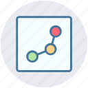 analytics, chart, diagram, financial report, growth, page, statistics icon