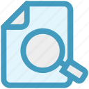 analytics, document, file, magnifier, page, searching, statistics