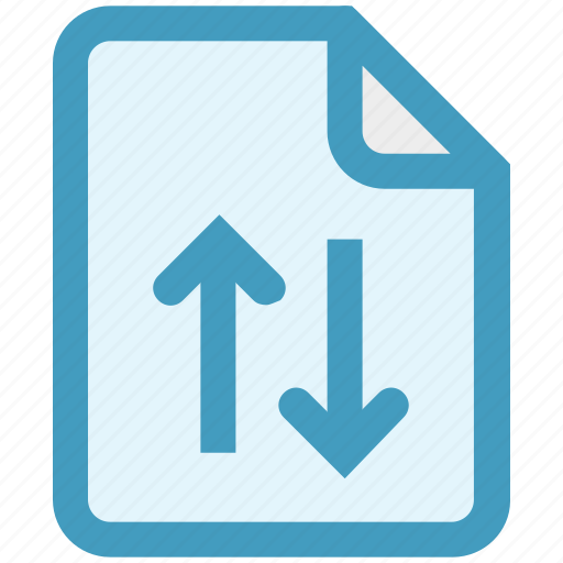 analytics, document, file, page, statistics, up and down arrows icon