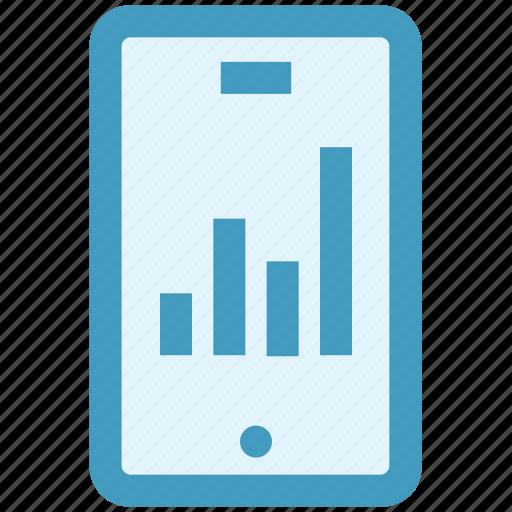 analytics, chart, graph, mobile, report, sales, statistics icon