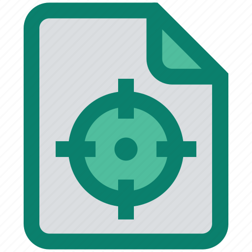 aim, analytics, document, file, page, statistics, target icon