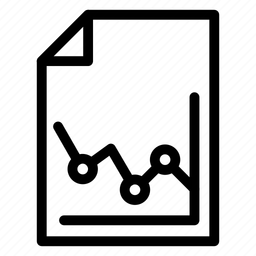 analysis, analytics, file, report icon