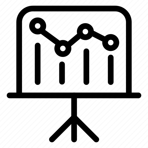 analytic, board, presentation, statistics icon