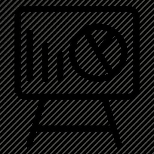 analytics, board, graph, presentation icon