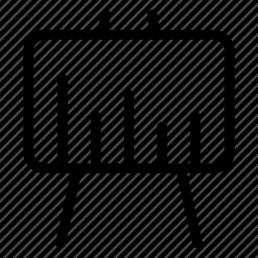 analytics, board, chart, presentation icon