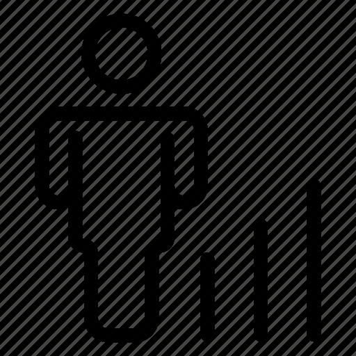 avatar, graph, man, user icon