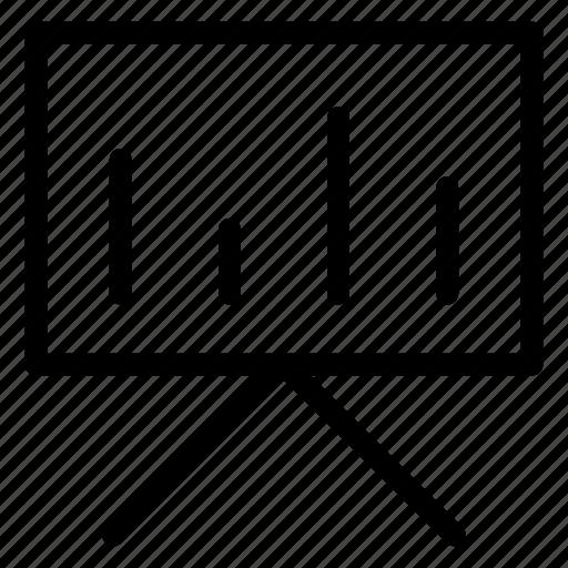 board, chart, diagram, presentation icon