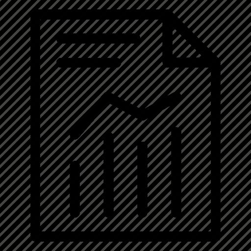analytics, document, report, sheet icon