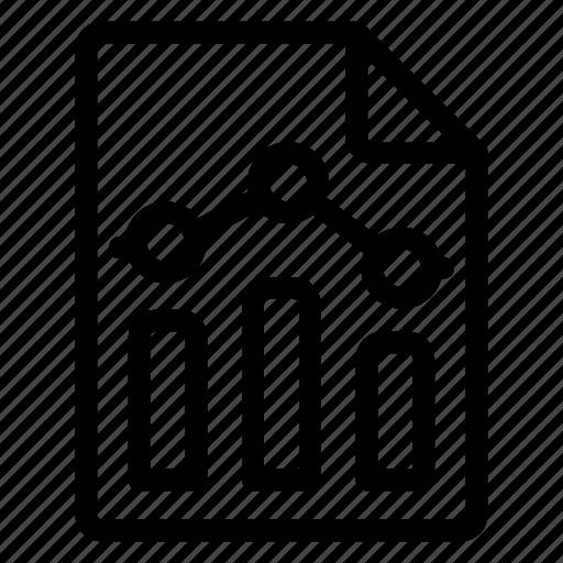 analysis, analytics, files, report icon