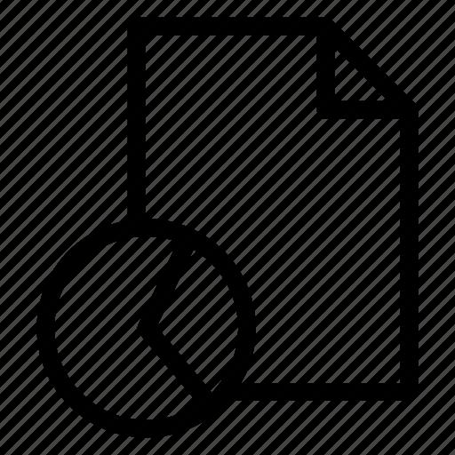 document, file, graph, report icon