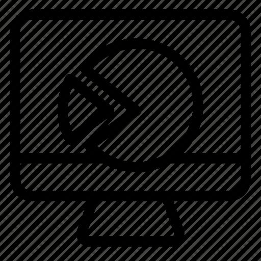 chart, display, graph, screen icon