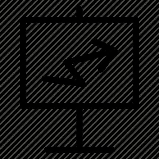 board, chart, growth, presentation icon