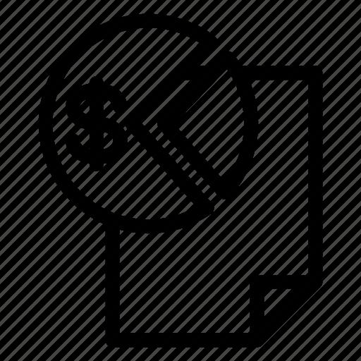 bill, invoice, report, tax icon