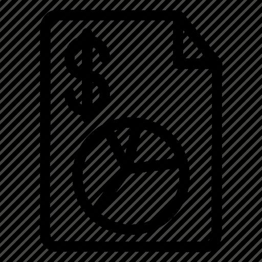 document, invoice, report, tax icon