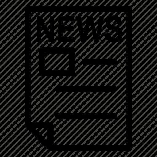 advertise, news, press, reading icon