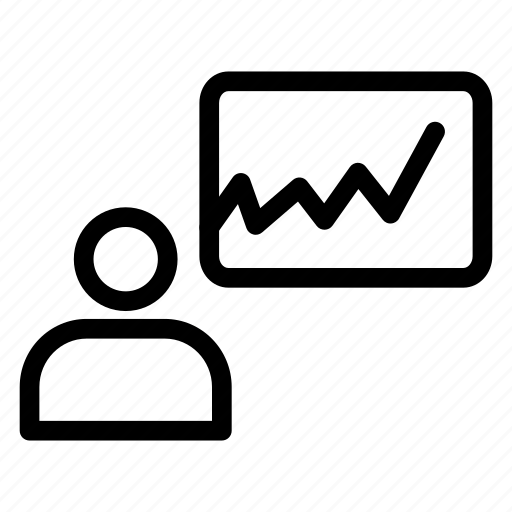 board, graph, growth, presentation icon