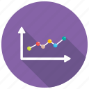business analytics, growth chart, infographic, line graph, statistics icon