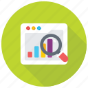 search stats, graph magnifying, data analyzing, statistical analysis, data analysis