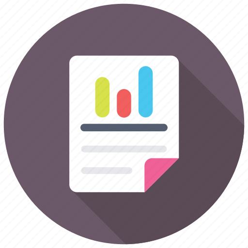 Business communication, sales report, business report, stock report, business analysis icon