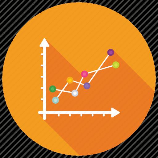 business growth chart, comparison graph, line chart, line graph, trending graph icon