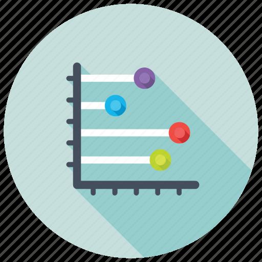 horizontal bar graph, horizontal graph, horizontal histogram, infographic dashboard, statistics icon