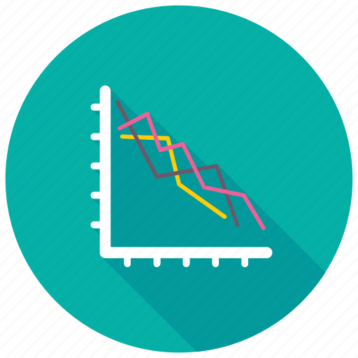 Financial performance, loss chart, business analysis, business loss, loss graph icon