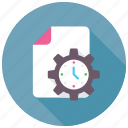 clock under cogwheel, schedule, day planner, data management, time management